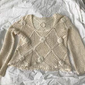 Tops - Vintage Crochet long sleeve top